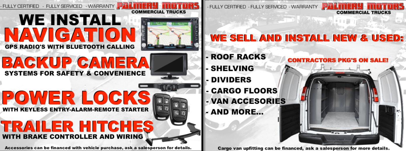 truck and van accessories, parts and service specials