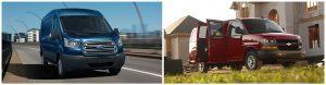 Ford Transit Cargo Van vs. Chevrolet Express Cargo Van